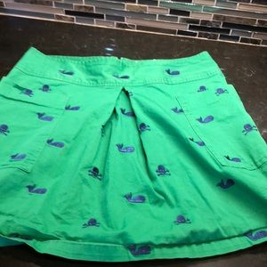 Libertine green mini skirt whales skulls bones